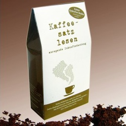 Lustiges Wichtelgeschenk: Kaffeesatz lesen