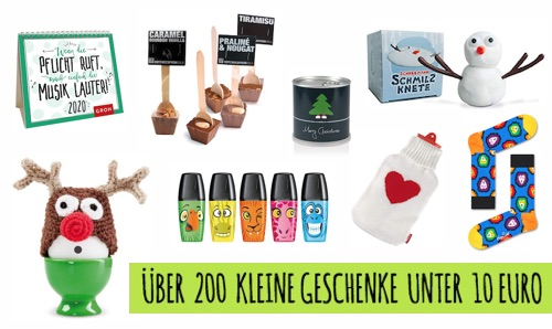 Kleine Geschenke unter 10 Euro
