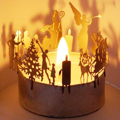 Wichtelgeschenkidee: Mini Adventskranz fürs Teelicht