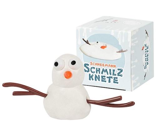 Lustiges Wichtelgeschenk für unter 10 Euro: Schneemann-Schmilz-Knete