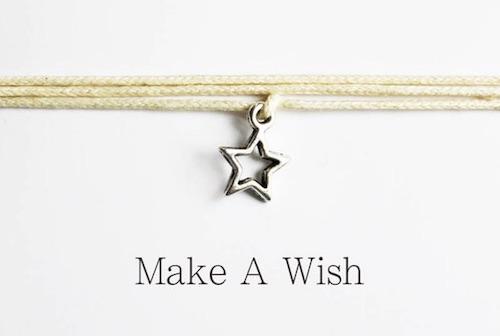 Kleine Wichtelidee: Make a Wish - Wunscharmband mit Stern