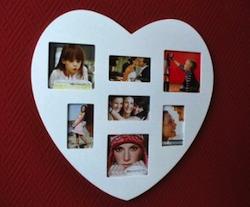Valentinsgeschenk unter 10 Euro: Herzbilderrahmen