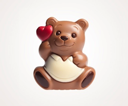 Valentinsgeschenk für unter 5 Euro: Schokobärchen mit Herz