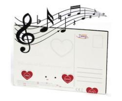 Valentinstagsgeschenk unter 10 Euro: Sprechende Postkarte