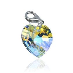 Geschenkidee für Sie: Herz-Charm mit Swarovski Stein