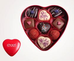 Geschenkidee zum Valentinstag für unter 10 Euro: Valentinspralinenbox