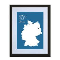 Valentinsgeschenk: Personalisierte Landkarte