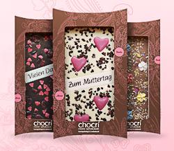Geschenkidee zum Muttertag: individuelle Schokolade von chocri