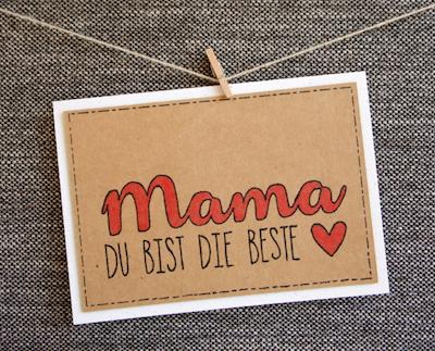 Geschenkidee zum Muttertag: Karte + Blumen