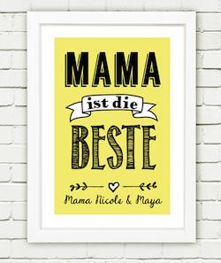 Personalisierbarer Druck zum Muttertag