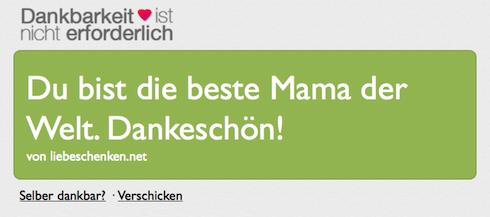 Last-Minute-Geschenkidee zum Muttertag: ein virtuelles Dankeschön