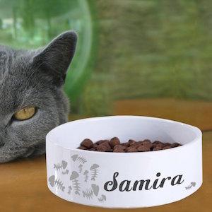 Geschenkidee für Katzenfreunde: Personalisierbarer Futternapf
