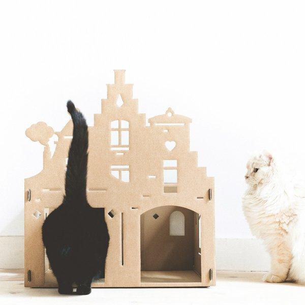 Geschenkidee für Katzenfreunde: Katzenspielhaus