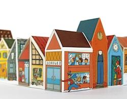 Adventskalender zum Basteln und Befüllen: kleine Stadt mit 24 Häusern