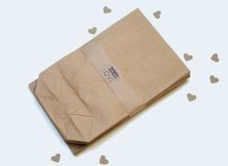 Papiertüten aus Kraftpapier für einen DIY Adventskalender
