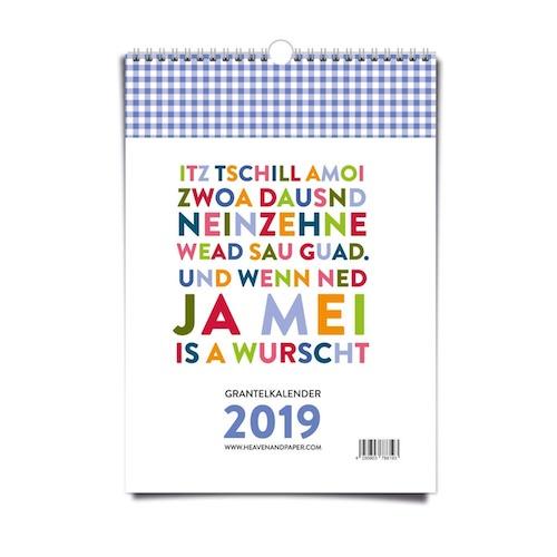 Wichtelgeschenkidee für Männer für unter 10 Euro: Bayrischer Grantelkalender 2017