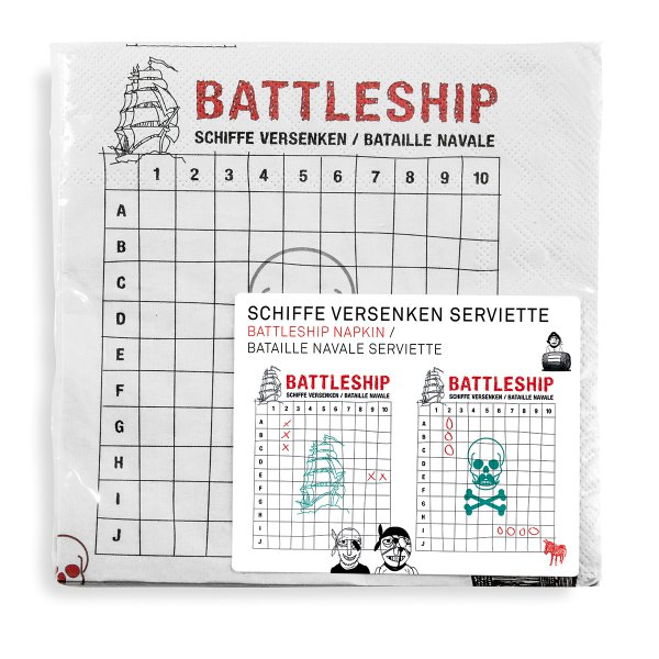 Wichtelgeschenke für Männer: Battleship Servietten