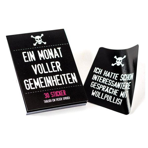 Wichtelgeschenkidee für Männer: Sticker mit fiesen Sprüchen