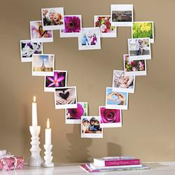 Geschenkidee zum Valentinstag: Herz aus Fotos