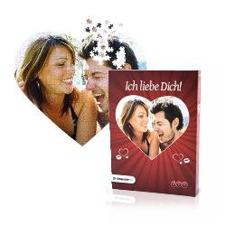 Valentinsgeschenk ohne Schokolade: Herzpuzzle mit eigenen Foto