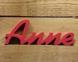 Personalisiertes Geschenk zur Geburt: Name in Holzbuchstaben