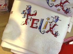 Kommuniongeschenk: Handtuch mit Namen