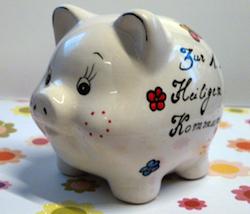 Geldgeschenk zur Kommunion: Individuelles Sparschwein