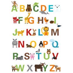 Geschenkidee zur Einschulung: ABC-Poster mit Tieren