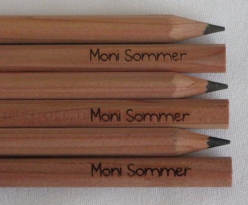 Geschenk für Kinder zum Schulanfang: Bleistifte mit Namen