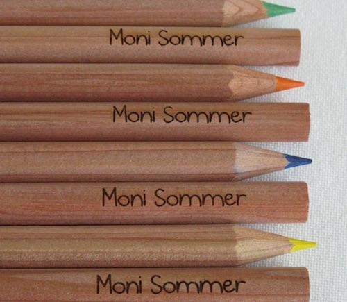 Geschenkidee zur Einschulung: Buntstifte mit Namensgravur