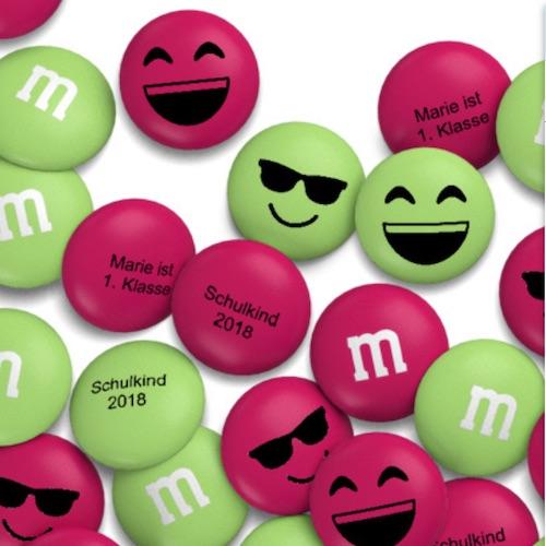 Geschenkidee zum Schulstart: m&ms mit Glückwünschen beschriften