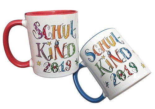 Personalisierte Schulkind Tasse mit Einschulungsjahr und Namen des Schulkinds