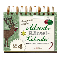 Rätsel-Adventskalender - spaßiger Weihnachtskalender ohne Schokolade