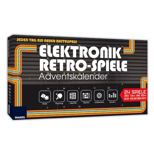Origineller Adventskalender: Elektronik Retro Spiele Adventskalender