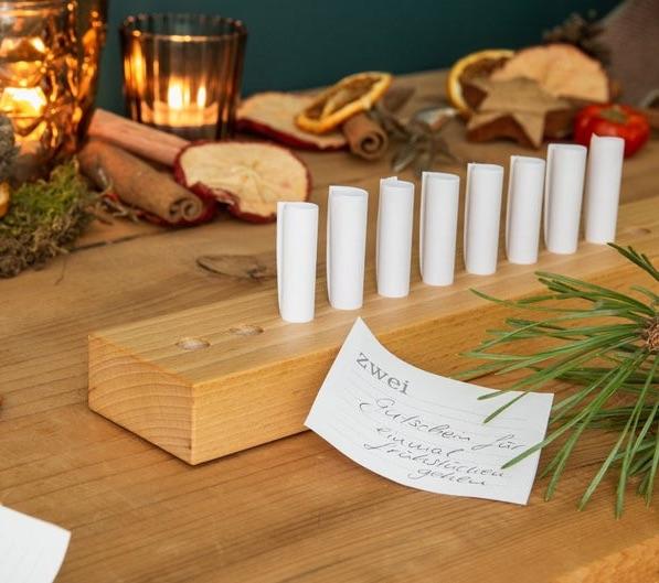 Gutschein-Adventskalender aus Holz