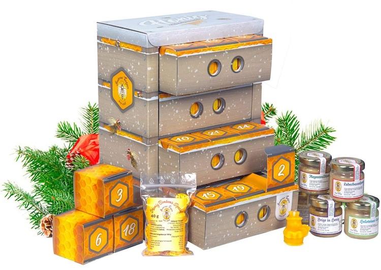 Frühstücks-Adventskalender gefüllt mit Honig