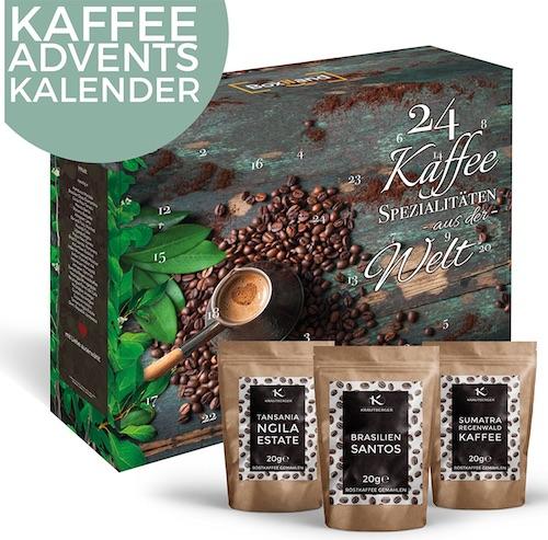 Adventskalender ohne Schokolade: Kaffee Adventskalender