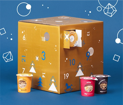 Müsli-Adventskalender von mymuesli - Gold Edition 2018