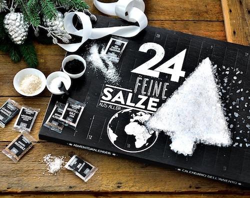 Adventskalender mit 24 Salzen aus aller Welt