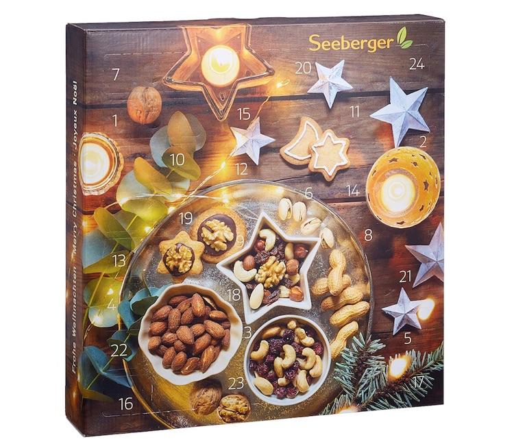 Adventskalender ohne Schokolade: Seeberger Snack Adventskalender gefüllt mit Trockenobst und Nüssen