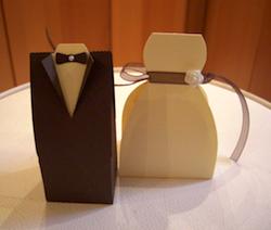 Geldgeschenk zur Hochzeit: Papierboxen Brautpaar