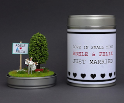 Geldgeschenk zur Hochzeit: Just Married Dose