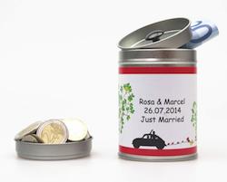Geldgeschenk zur Hochzeit: Individualisierbare Hochzeitsdose