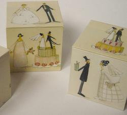 Geldgeschenk zur Hochzeit: Geldschachtel mit Brautpaar
