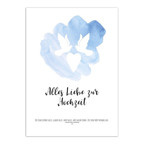 Beispiel: Glückwunschkarte zur Hochzeit