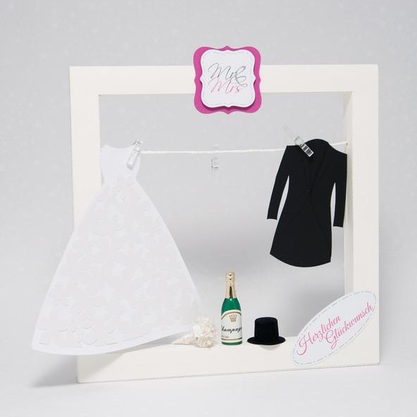 Hochzeitsgeldgeschenk: Bilderrahmen mit Hochzeitsmotiv