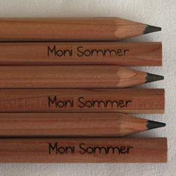 Wichtelgeschenke für Kinder: Bleistifte mit Namen