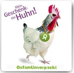 Nachhaltiges Wichtelgeschenk: Huhn von OXFAM