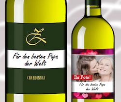 Geschenk für Papa: Wein mit personalisiertem Etikett