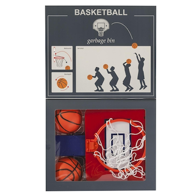Wichtelidee für Kollegen: Basketballspiel für den Mülleimer